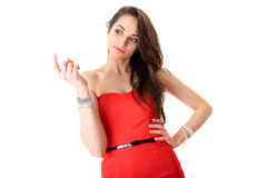 Came here my dear gesture, young female Stock Photo