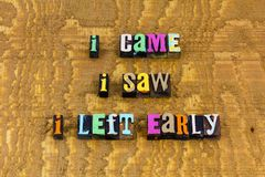 Free Came Saw Left Early Introvert Antisocial Party Time Fun Stock Photography - 160036622