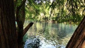 Camecuaro sjö Arkivbild
