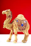 Camel. Beautiful camel statue isolated on red background Stock Photo