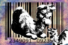 Camel barcode animal design art idea Stock Images
