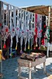 Camel Bridles at Beduoin Market stock image