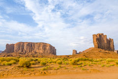 The CAmel Butte is a giant sandstone formation in the Monument v Royalty Free Stock Photos