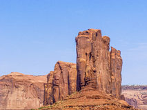 Camel Butte is a giant sandstone formation in the Monument valle Stock Images