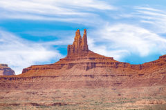 Camel Butte is a giant sandstone formation in the Monument valle Stock Photo