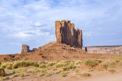 Camel Butte is a giant sandstone formation in the Monument valle Stock Photos
