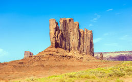 Camel Butte is a giant sandstone formation in the Monument valley Royalty Free Stock Images