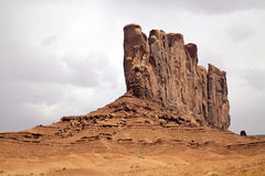 Camel Butte in Monument Valley. A scenic landscape of camel butte in monument valley tribal park, utah Stock Image