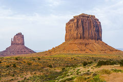 Camel Butte sandstone formation in the Monument valley Stock Image