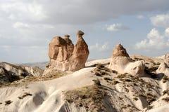 THE CAMEL. CAPPADOCIA. Famous camel-shaped rock formation in capadocia, turkey Stock Image