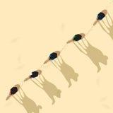 Camel caravan. Birdseye view of a dessert crossing caravan, abstract art Stock Photography