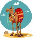 Camel. Cartoon camel. Africa. Desert landscape Vector illustration Stock Photos