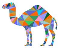 Camel color geometric symbol Stock Photo