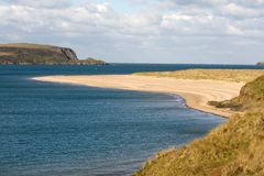 Camel estuary, Cornwall. Looking out to sea along the River Camel estuary in North Cornwall, UK Stock Image
