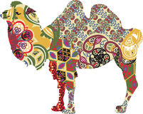 Camel in ethnic patterns Royalty Free Stock Images