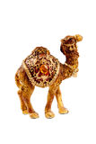 Camel figurive. Small camel figurine on the white background Royalty Free Stock Photos