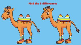 Camel, find five differences Stock Photography