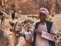 The Camel Herder royalty free stock image