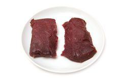 Camel meat steaks Royalty Free Stock Photo