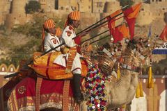 Camel Mounted Lancers Royalty Free Stock Images