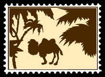Camel on postage stamps Royalty Free Stock Image