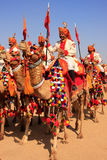 Camel procession at Desert Festival, Jaisalmer, India Royalty Free Stock Photos
