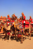 Camel procession at Desert Festival, Jaisalmer, India Stock Photography