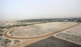 Camel Racing Destination. Camel Racing Track In Dubai royalty free stock photos