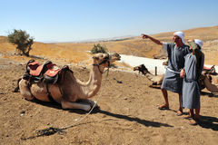 Camel Ride and Desert Activities in the Judean Desert Israel Stock Photography