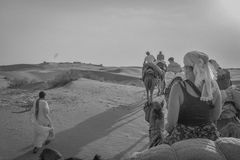 Camel ride Desert of Rajasthan, India. Camel ride in the Thar Desert in Rajasthan India at 20 kilometers from pakistan stock photography