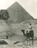 Camel ride at the  Sphinx and Pyramids Royalty Free Stock Photo