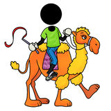 Camel rider. Silhouette-man on transportation icon - camel rider Royalty Free Stock Image