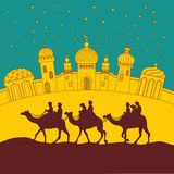 Camel's caravan Royalty Free Stock Photo