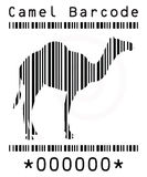 Camel silhouette in barcode Stock Photography