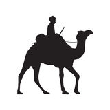 Camel Silhouette Royalty Free Stock Photography