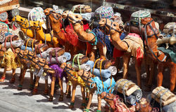 Camel souvenirs in Dubai Stock Image