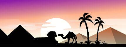 Sphinx and camel Royalty Free Stock Photo