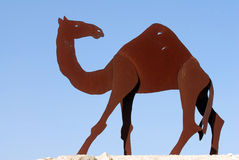 Camel Statues in the Negev, Israel Stock Photography