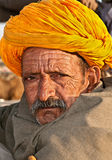 Camel trader at Pushkar stock images