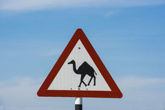 Camel traffic sign Stock Photos