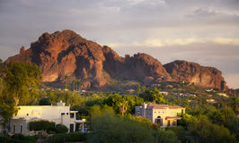 Camelback Berg in Scottsdale, Arizona Stockbild