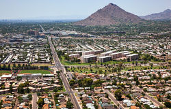 Camelback Mountain and the Greenbelt Royalty Free Stock Image