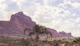 Camelback Mountain range in ,Scottsdale royalty free stock images