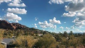 Camelback Mountain west side viewpoint, Phoenix,. Scottsdale, Arizona,USA stock footage