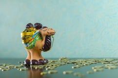 Camelbank op euro en geldtoren Royalty-vrije Stock Afbeelding