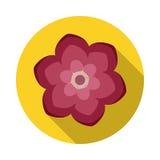 Camelia Flower Flat Icon con la sombra Imagen de archivo