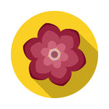 Camelia Flower Flat Icon with shadow royalty free illustration