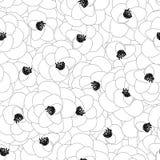 Camellia Flower Outline Seamless Background Ilustração do vetor ilustração royalty free