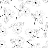 Camellia Flower Outline on White Background. Vector Illustration.  vector illustration