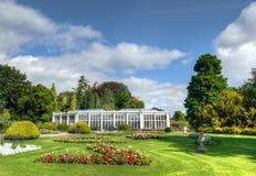 Camellia House, parco di Wollaton, Nottingham, Regno Unito fotografie stock libere da diritti